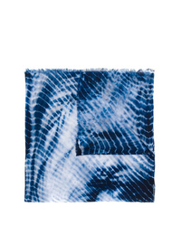 Bufanda efecto teñido anudado azul marino de Faliero Sarti
