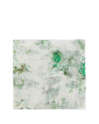 Bufanda efecto teñido anudado verde oliva de Avant Toi