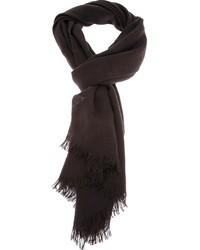 Bufanda en marrón oscuro de Lanvin