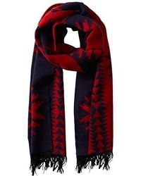 Bufanda en rojo y azul marino