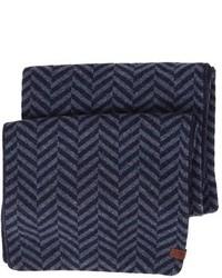 Bufanda en zig zag azul marino