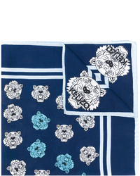 Bufanda estampada azul marino de Kenzo