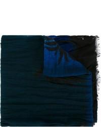 Bufanda estampada azul marino de Saint Laurent