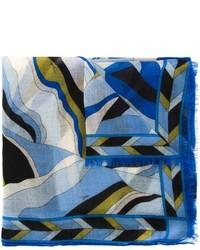 Bufanda estampada azul de Emilio Pucci