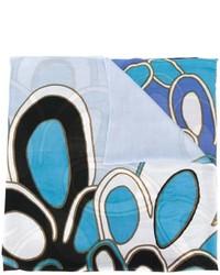 Bufanda estampada celeste de Diane von Furstenberg