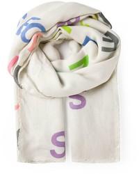 Bufanda estampada en beige de Faliero Sarti