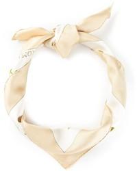 Bufanda estampada en beige de Hermes
