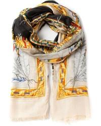 Bufanda estampada en beige de Versace