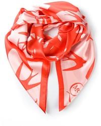 Bufanda estampada en blanco y rojo de McQ by Alexander McQueen