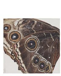 Bufanda estampada en marrón oscuro