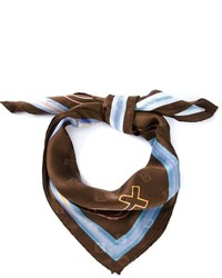 Bufanda estampada en marrón oscuro de Moschino