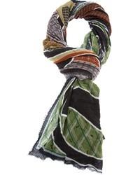 Bufanda estampada en multicolor