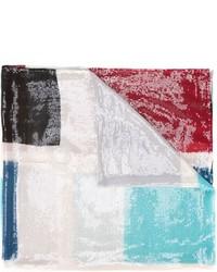 Bufanda estampada en multicolor de Armani Collezioni