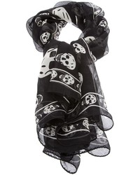 Bufanda estampada en negro y blanco