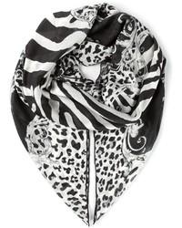 Bufanda estampada en negro y blanco de Balmain