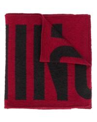 Bufanda estampada en rojo y negro de Moschino