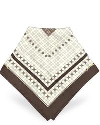 Bufanda estampada marrón