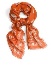 Bufanda estampada naranja
