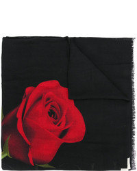 Bufanda Estampada Negra de Marcelo Burlon County of Milan