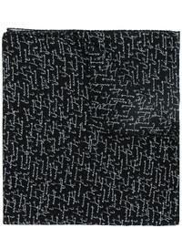 Bufanda estampada negra de Saint Laurent
