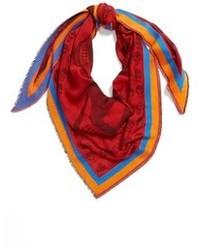 Bufanda estampada roja