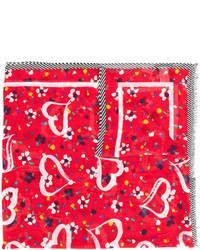 Bufanda estampada roja de Marc Jacobs