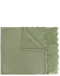 Bufanda estampada verde oliva de Ermanno Scervino