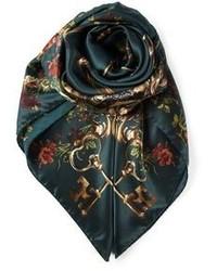 Bufanda estampada verde oscuro de Dolce & Gabbana