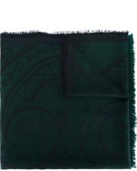 Bufanda estampada verde oscuro de Etro