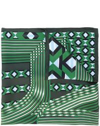 Bufanda Estampada Verde Oscuro de Fendi