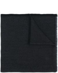 Bufanda ligera en zig zag negra de Salvatore Ferragamo