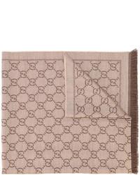 Bufanda marrón claro de Gucci