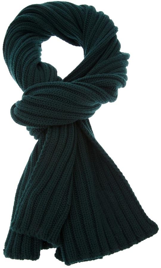 Bufanda verde oscuro de DSquared