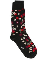 Calcetines con print de flores negros de Paul Smith