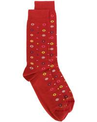 Calcetines con print de flores rojos de Etro