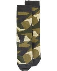 Calcetines de camuflaje verde oliva
