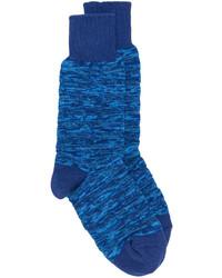 Calcetines de punto azules de Issey Miyake