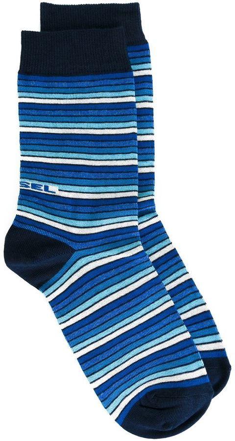 Calcetines de rayas horizontales azul marino de Diesel