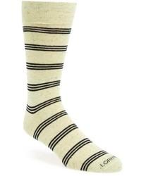 Calcetines de rayas horizontales en beige