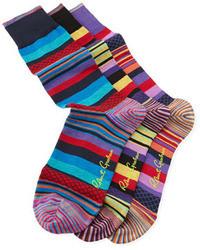 Calcetines de rayas horizontales en multicolor
