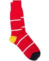 Calcetines de Rayas Horizontales Rojos y Blancos de Paul Smith