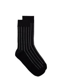 Calcetines de rayas verticales negros de Haider Ackermann