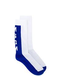 Calcetines en blanco y azul de MSGM