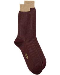 Calcetines en marrón oscuro de Etro