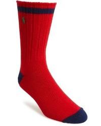Calcetines en rojo y azul marino