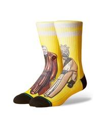 Calcetines estampados amarillos