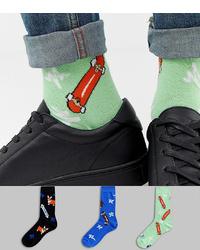 Calcetines estampados en verde menta