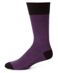 Calcetines estampados morado