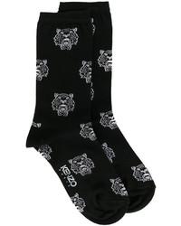 Calcetines estampados negros de Kenzo