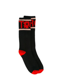Calcetines estampados negros de Stella McCartney